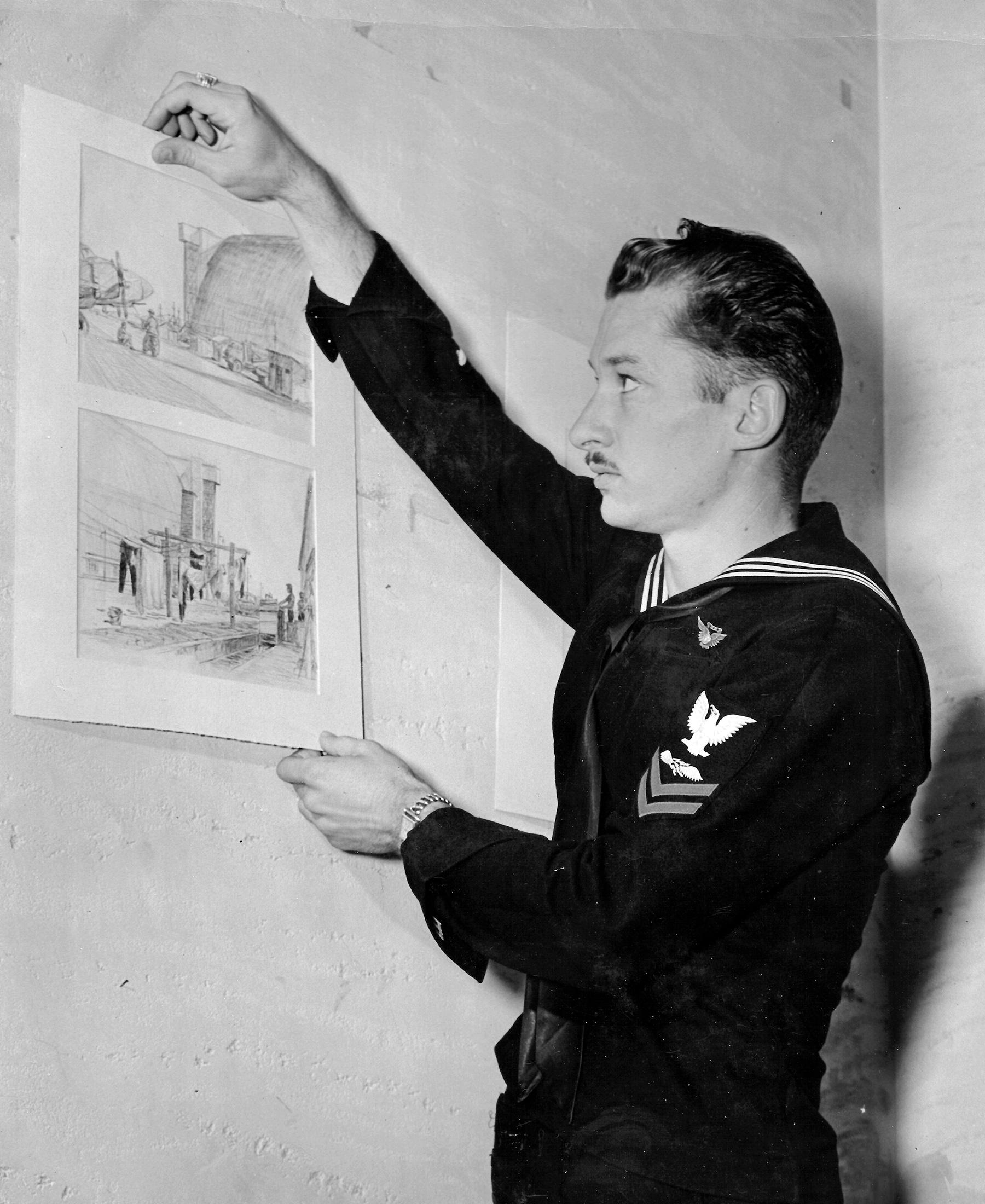 Mort Traylor WWII blimp squadron art exhibit