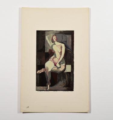 Morton Traylor nude serigraph